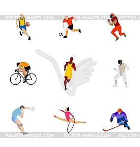 Set von unterschiedlichen Arten von Sport - Vektor-Illustration