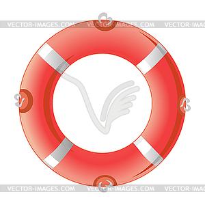 Red Rettungsring - Vektorgrafik