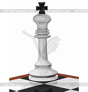 Cornered Schach weiße König - Vector-Clipart EPS