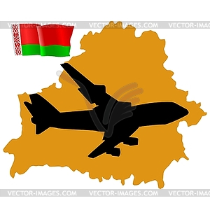 Fly me to Weißrussland - Royalty-Free Clipart