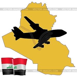 Fliegen Sie mich zum Irak - vektorisiertes Bild