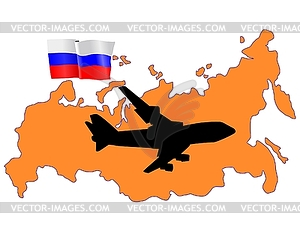 Flug nach Russland - Vector-Design