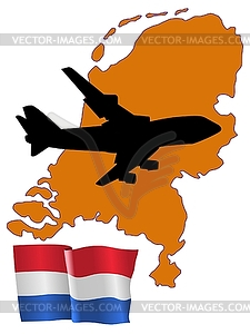 Fly me to Niederlande - Royalty-Free Clipart