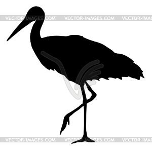 Silhouette von Storch - Vektor-Clipart / Vektorgrafik