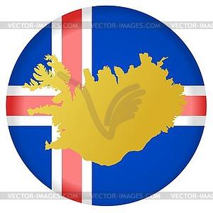 Flag button in den Farben von Island - Vector-Bild