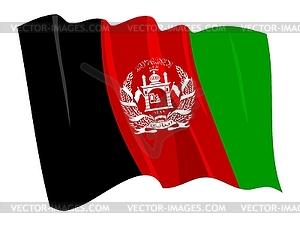 Wehende Flagge von Afghanistan - Vector-Clipart / Vektorgrafik