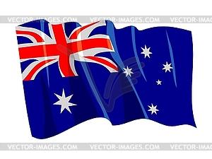 Wehende Flagge von Australien - Vector-Abbildung