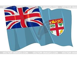 Wehende Flagge von Fidschi - Vektor-Clipart