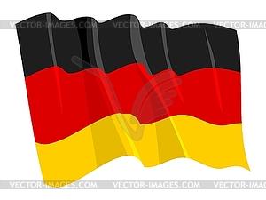 Wehende Flagge von Deutschland - Vektor-Klipart