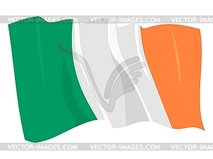 Wehende Flagge von Irland Republik - Vector-Design