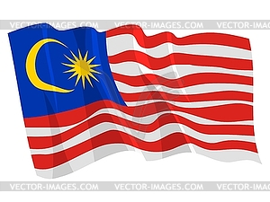 Wehende Flagge von Malaysia - Clipart-Design