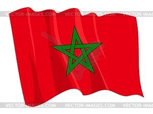 Wehende Flagge von Marokko - Clipart-Design