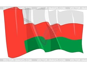 Wehende Flagge von Oman - farbige Vektorgrafik