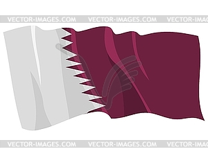 Wehende Flagge von Katar - vektorisiertes Bild