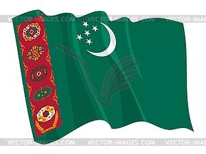 Wehende Flagge von Turkmenistan - Vektor-Clipart EPS