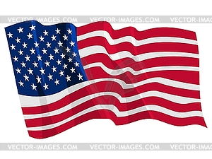 Wehende Flagge von USA - Vector-Illustration