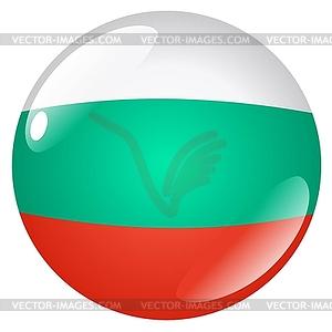 Taste in den Farben der Republik Bulgarien - Vector-Clipart EPS