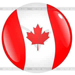 Taste in den Farben von Kanada - vektorisiertes Clip-Art