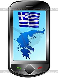 Zusammenhang mit Griechenland - vektorisiertes Clip-Art