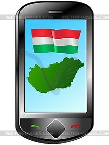 Zusammenhang mit Ungarn - vektorisiertes Design