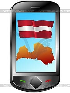 Verbindung mit Lettland - Vector-Clipart EPS