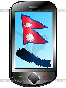 Zusammenhang mit Nepal - Vektorgrafik-Design