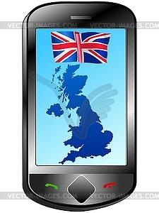 Verbindung mit Großbritannien - Vektor-Design