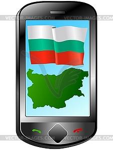Verbindung mit Bulgarien - Vektor-Illustration