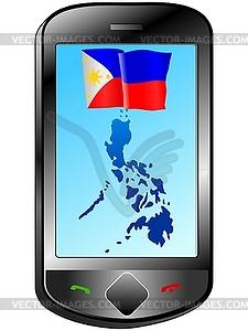 Zusammenhang mit Philippinen - Clipart-Bild