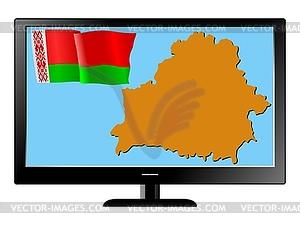 Weißrussland im Fernsehen - Stock Vektor-Clipart
