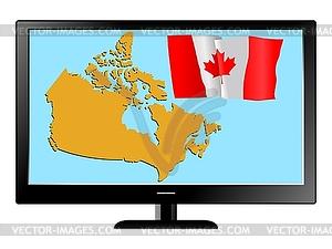 Kanada im TV - Vektor-Clipart EPS