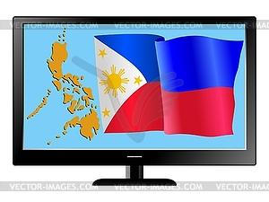 Philippinen im Fernsehen - Vector-Clipart