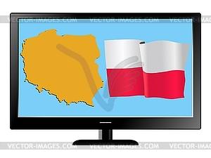 Polen im Fernsehen - Vector-Design