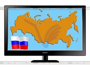 Russland im Fernsehen - Vector-Clipart / Vektor-Bild