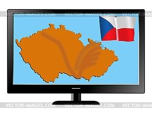 Tschechien im Fernsehen - Stock Vektor-Bild