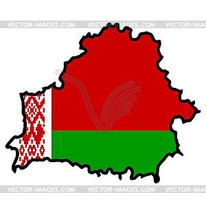 Karte in den Farben der Republik Belarus - Vektor-Design