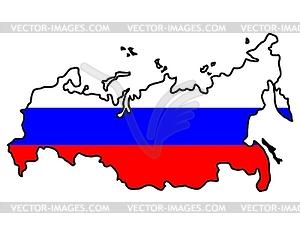 Karte in den Farben von Russland - Vektorgrafik-Design