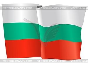 Wehende Flagge von Bulgarien - Vektor-Clipart EPS