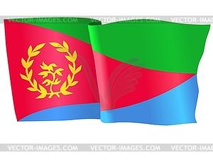 Wehende Flagge von Eritrea - vektorisiertes Bild