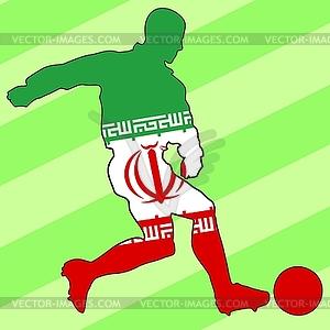 Fußball-Farben des Iran - Vector-Clipart EPS