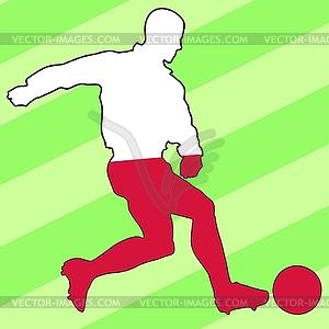 Fußball-Farben des Fußballs Farben von Polen - vektorisiertes Bild