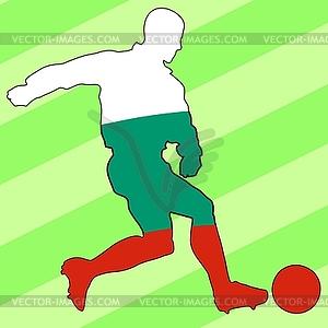 Fußball-Farben von Bulgarien - Clipart-Bild