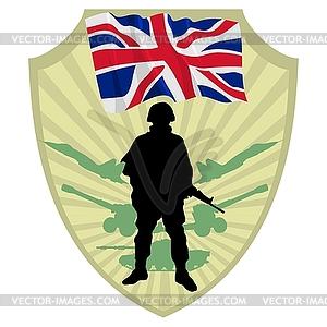 Army of United Kingdom - Stock Vektorgrafik