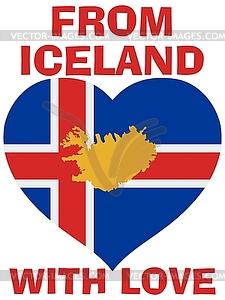 Aus Island mit Liebe - vektorisiertes Clipart
