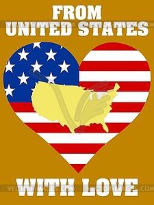 Aus USA mit Liebe - Vektor-Abbildung