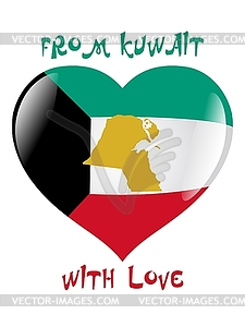 Aus Kuwait mit Liebe - Clipart-Design