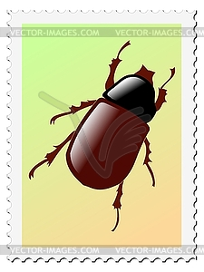 Stempel mit Käfer - Vector-Clipart EPS