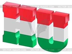 Internet-Domäne oberster Stufe von Ungarn - Stock Vektorgrafik