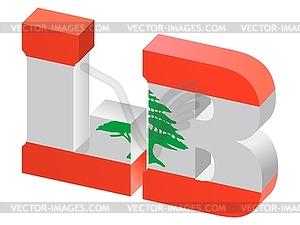 Internet-Domäne oberster Stufe des Libanon - Vector-Clipart EPS