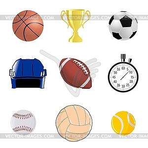 Set von sportliche Objekten - Vector-Clipart / Vektor-Bild